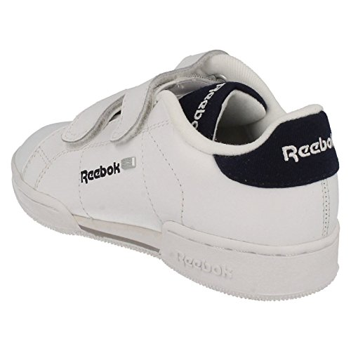 Reebok  REEBOK NPC II 2V MATL, Sandales Compensées garçon - White/Blue Cadet/Tin Grey