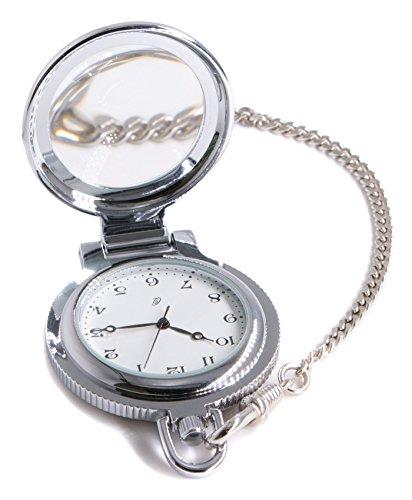 Jean Constantine Taschenuhr mit Kette und Lupenglas, Swiss Ronda Uhr-Werk, Kettenuhr, 5 ATM, Farbe:...