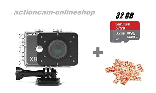 Actionpro X8 - 4K Actioncam - 32GB Memory Edition
