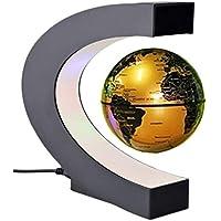 2631c80e2991b0 lzndeal Globe Terrestre Lumineux Led Flottant Magnétique Levitation Globe  Lamp avec Lumières LED et Base en