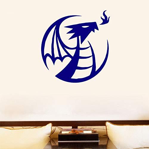 Eruptive Flying Dragon Moderne Mode Wandaufkleber Dekoration Zubehör für Wohnzimmer Abnehmbare Vinyl Aufkleber 43X45CM -