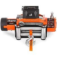 Rhino - Cabrestante Eléctrico 6125 kg - Sistema Inalámbrico - 12V - Cable de Acero