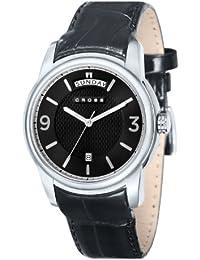 Cross CR8007-01 - Reloj analógico para hombre, correa de cuero color negro