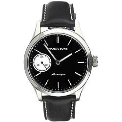 Classic Marc & Sons Automatic Watch Unitas 6497, Sapphire Glass