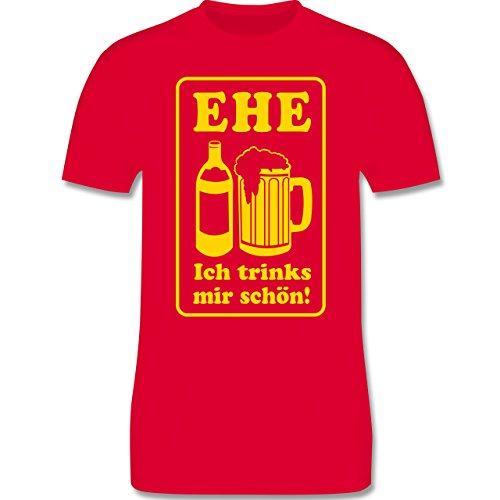 JGA Junggesellenabschied - Ehe - Ich trinks mir schön - Herren Premium T-Shirt Rot