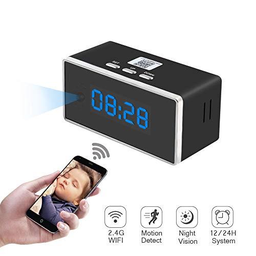 1080P Telecamera Spia Nascosta Orologio Sveglia HD Spy Cam TANGMI Videocamera Mini Microcamere Wireless Telecamera di Sorveglianza Motion Detection 140°Angolo di Vista con Visione Notturna