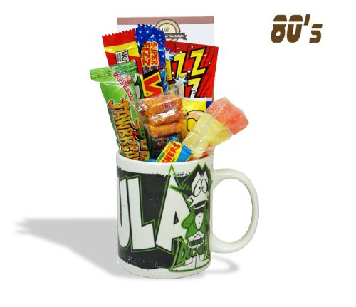 Count Duckula Mug with a Vampire Selection of 80's Sweets 630gms