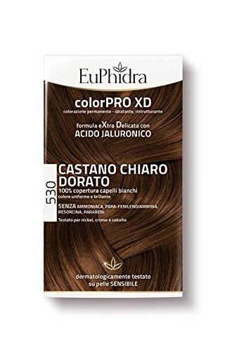 Euphidra Tinta Color Pro XD 530 Colorazione Permanente senza ammoniaca CASTANO CHIARO DORATO