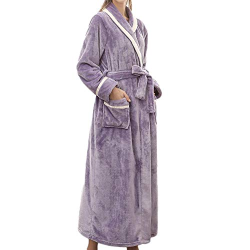 3af1549900 Bathrobes Women Winter Coat Oversized Large Size Soft Long Sleeves Bathing  Clothes Home for Men Nightgowns
