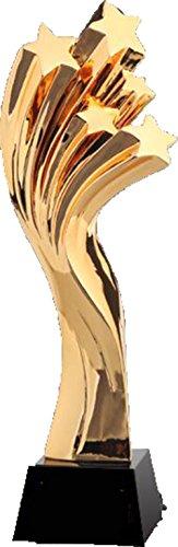 PsgWXL Kreative Krone Vergoldete Harz-Schwarz-Kristalltrophäen Pentacle-Trophäe, Die Kickboxen Taekwondo-Wettbewerb Macht