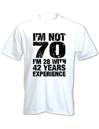 Bang Tidy Clothing Men's 70th Birthday T Shirt I'm Not 70 Funny Birthday Gifts