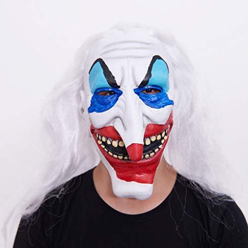 Maske - Halloween Maske Horror Kopfbedeckung Unheimlich Männlich Erwachsen Weiblich Ghost Face Masquerade Latex (Color : K) (Unheimlich Männlich Halloween-kostüme)
