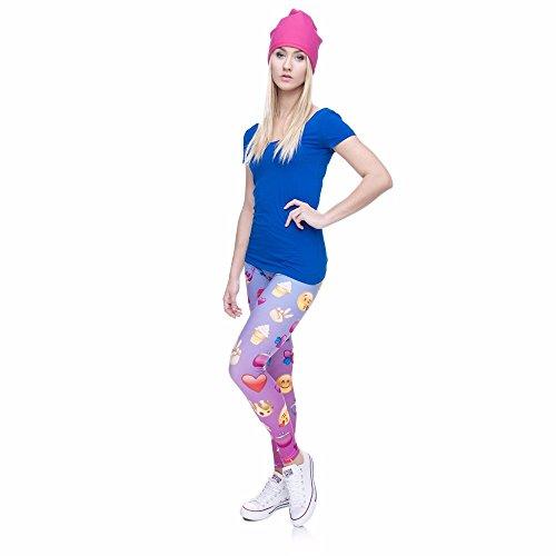 HDYS Quotidiana delle donne gambali Stampa movimento pantaloni casual lga36753
