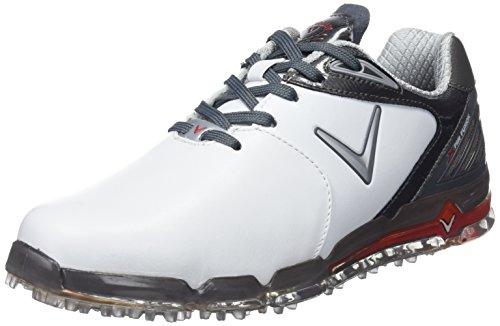 Callaway Herren Xfer Fusion Golfschuhe Weiß/Grau (White/Grey) 44 EU