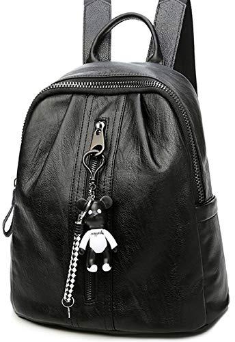 rbig Reiserucksack Mit Bär Dekoration Student Backpack Stylischer Wanderrucksack Vintage Damen Cityrucksack Wild Messenger Bag ()