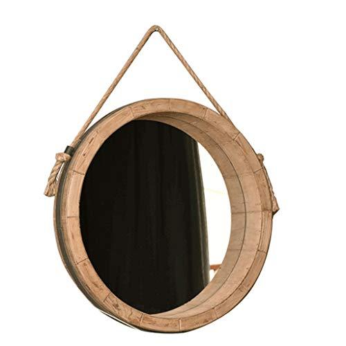 Support Décoratif De Miroir De Miroir Accrochant Rond Avec Le Maquillage De Ficelle Simple De Salle De Bains De Corde (taille : Diamètre 45cm)