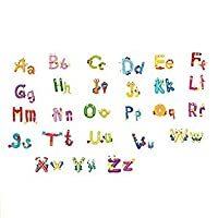 TOOGOO(R) Animals Alphabet Letters words Wall Sticker Kids Learning Educational Room Decor
