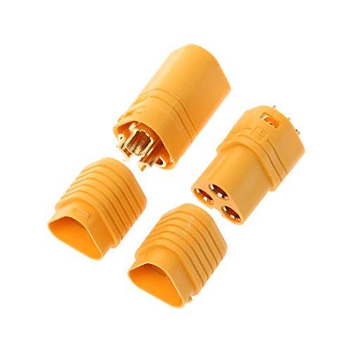 Jenor MT60 Lot de 3 connecteurs pour moteur RC ESC 3,5 mm