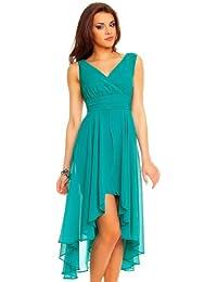 Kleid petrol vokuhila
