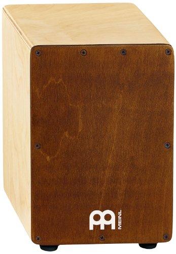 Meinl Percussion SCAJ1NT-LB Mini Cajon Birkenholz Korpus Frontplatte hellbraun/Korpus natur mit Snareteppich