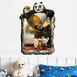 ZRDMN Wandaufkleber Das Dekor ist Cartoon Animierte 3D Junge Baby Wand Kunst Dinosaurier, 3D Kung Fu Panda, Große Können Kunst Wandbilder Für Schlafzimmer Wohnzimmer Büro Familie Kindergarten Küche