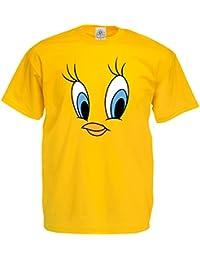 Tweety T-Shirt - Yellow tee shirt clothing kids tv retro gift Looney Tunes