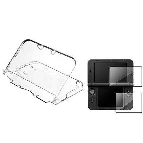 SODIAL (TM) Clear Crystal CASE + 2LCD-wiederverwendbar Displayschutzfolie kompatibel mit Nintendo 3DS XL