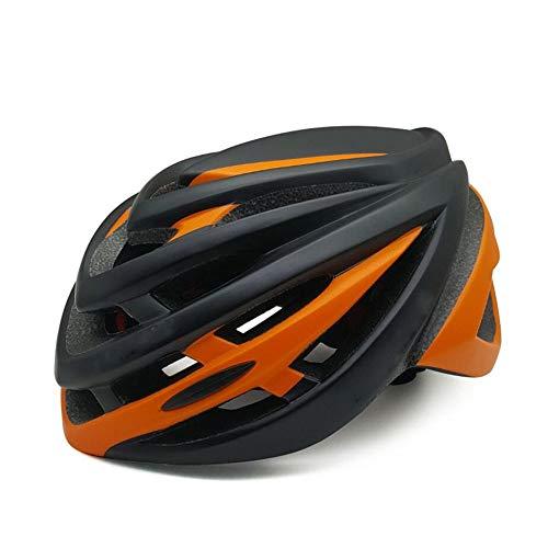 Integrierter Moulding Mountain Road Helm Zur Erhöhung Der Schutzausrüstung Des Fahrradhelmes Für Outdoor-Sportarten, Sichere Und Atmungsaktive Schlagfestigkeit Cool ( Farbe : Black Orange ) -