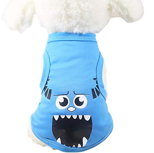 (Homeofying Pet Hund Katze Chinesische Charakter Cartoon Design Weste Spring Summer Kostüm Bekleidung)