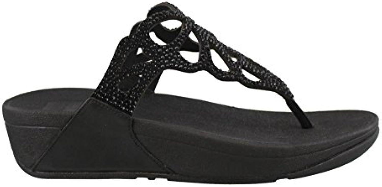 Fitflop H69-010 - Sandalias de Vestir de Cuero para Mujer