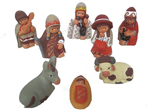 Discount ethnique – Crèche terre cuite Ayacucho Set H.10 cm