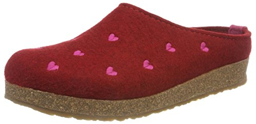 Haflinger Couriccini Grizzly, Unisex-Erwachsene Pantoffeln, Rot (Paprika 42), 36 EU