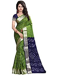 Shree Sondarya Bandhani Women's Art Silk Saree With Blouse Piece (Ssb-S3080-01_Multi Colour)