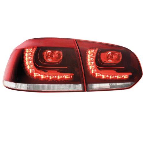 Preisvergleich Produktbild Dectane RV39ADLRC LED Rückleuchten VW Golf VI 08+ R-Look, rot / crystal