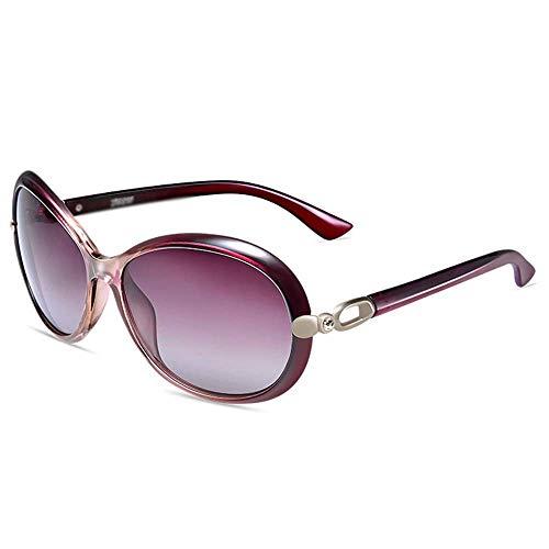 ZTMN Sonnenbrillen Sonnenbrillen - Polarisiert, UV-beständig, großer Rahmen, trendige Persönlichkeit, Damen beim Shoppen auf der Einkaufsstraße, Outdoor-Aktivitäten, 3 Farben zur Auswahlm (Farbe: