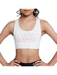 Nike G NP Bra Logo Strap GFX - Sujetador Deportivo, Niña, (White/