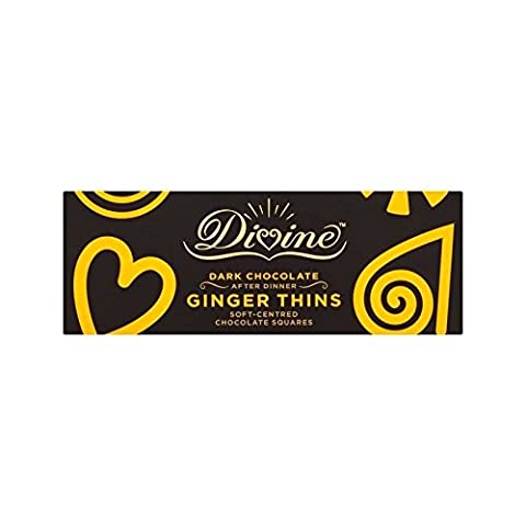 Göttlich Dunkler Schokolade Ingwer Dünnt 200G (Packung mit 4) - Divina Bere Cioccolata