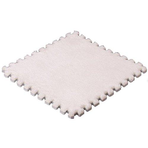 Weiche Baby Kids Schaum Puzzle Bodenmatte, Teppich Schaumstoff Spielmatte für Bodenschutz, Garage, Übung, Yoga, Spielzimmer (weiß) - Schaumstoff Ineinander Greifende Matten