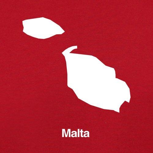 Malta / Republik Malta Silhouette - Herren T-Shirt - 13 Farben Rot