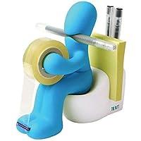 Butt Supplies - Rollo de cinta adhesiva (con dispensador, 15.2 x 14.8 x 6.6 cm, 222 g), color azul
