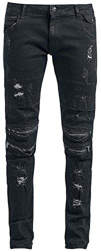 Rock Rebel by EMP Damaged Jared (Slim Fit) Jeans schwarz Schwarz