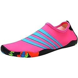LuckyGirls ❤️• •❤️ Zapato de Agua para Buceo Snorkel Surf Piscina Playa Hombre Mujer Escarpines Aquagym Calzado Natación Deportes Acuáticos Zapatillas Aire Libre Secado Rápido Pareja