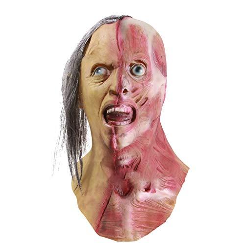Aoogo Halloween Cosplay Scary Mask Kostüm für Erwachsene Party Dekoration Requisiten gruselig