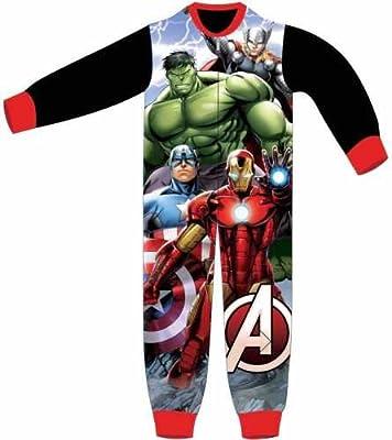 Marvel Los Vengadores Character Boys Onesie pijama PJ de tamaño UK 2–8años