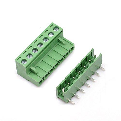 willwin 5,08mm Pitch Rechts Winkel 4pol PCB steckbar Terminal Block Anschlüsse 07P x 10 Set