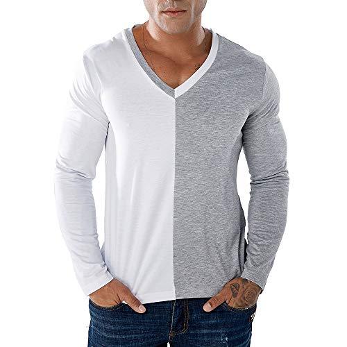 Carol -1 Herren Longsleeve Langarmshirt Shirt Mit Grandad-Ausschnitt Baseball-Look
