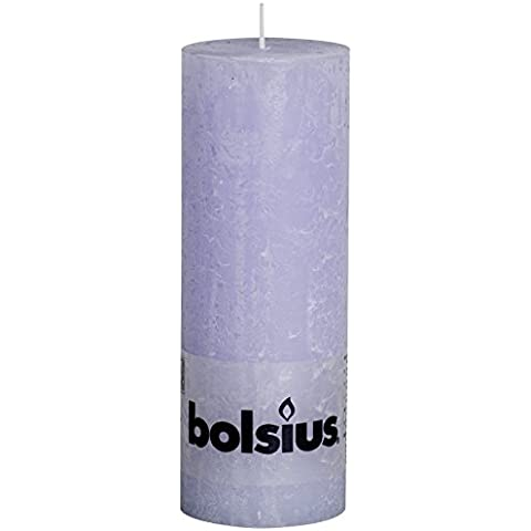 103868000352-Candela a colonna rustica, di paraffina, colore: rosa pastello