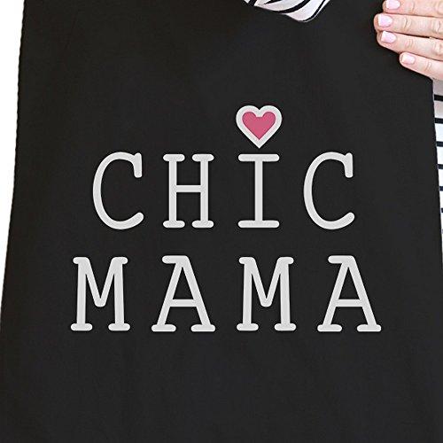 365 Printing inc , Borsa da spiaggia  Donna Chic Mama - Natural Chic Mama - Black