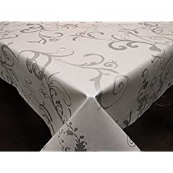 Mantel de Hule PVC estampado Ref. Roma Taupe, medida 140x200