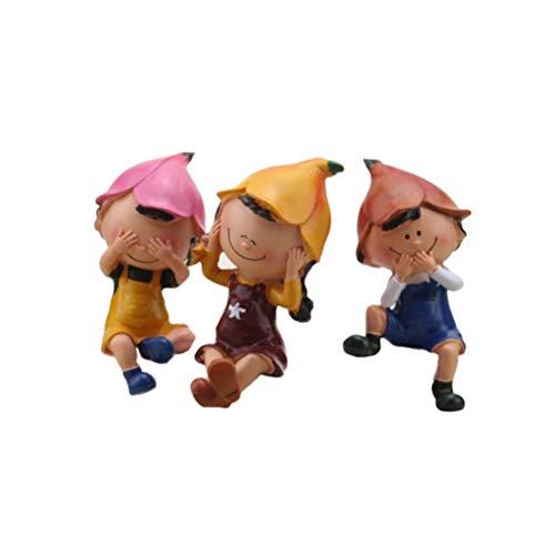 Healifty 3pcs Ornements de poupée de Mariage Nouveau Trois Pas d'artisanat de poupée décoration de Bureau résine Articles d'ameublement pour la Maison Chambre Bureau